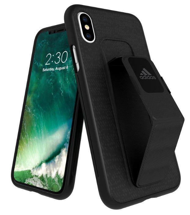 Adidas Iphone XS (2018) Sport Edition Grip Back Phone Case Black