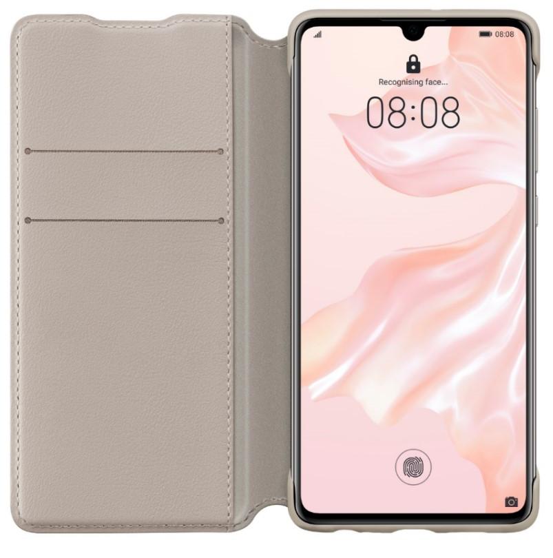 Huawei P30 Pro Wallet Phone Cover Khaki