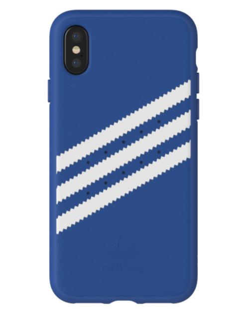 Adidas iPhone X Moulded Back Phone Case Royal Blue-White