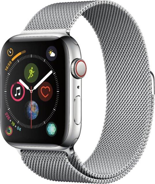 Apple Watch Series 4 Cellular 44mm Black Stainless Steel With Black Milanese Loop (X32)