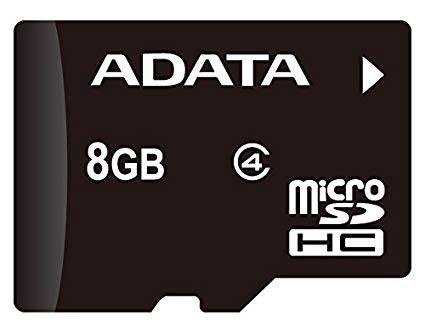 A Data 8GB microSDHC / T-Flash (Class 4)