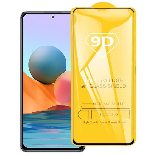 9D Full Glue Full Screen Tempered Glass Film for Xiaomi Redmi Note 10 Pro
