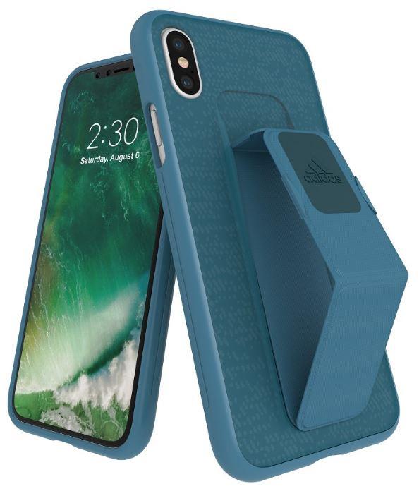 Adidas Iphone X Grip Back Phone Case Blue