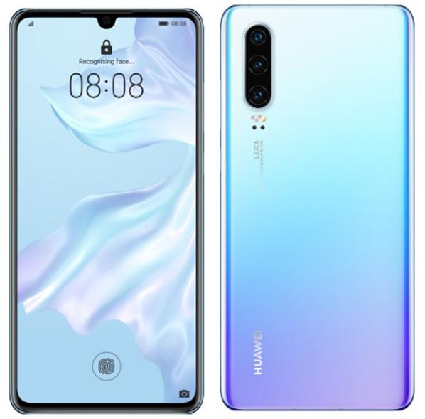 Huawei P30 ELE-L29 Dual Sim 128GB Crystal (8GB RAM) + FREE Anti-fingerprint Tempered Glass Screen Protector