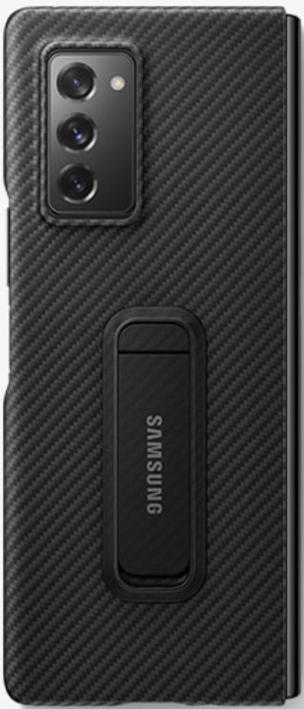 Samsung Galaxy Z Fold 2 Aramid Standing Phone Cover (Black)