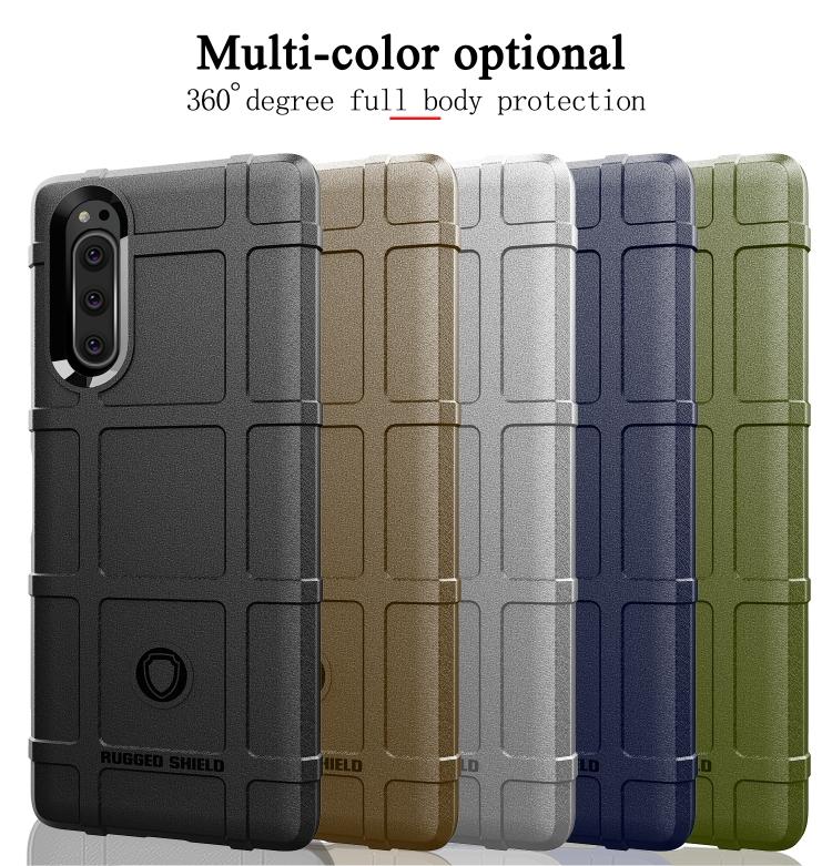 Full Coverage Shockproof TPU Case for Sony Xperia 5 II (Blue)